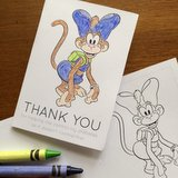 Color In Thank You Card