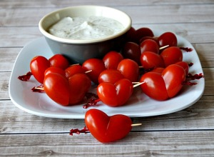 Valentine's Day Cupid's Tomato Hearts