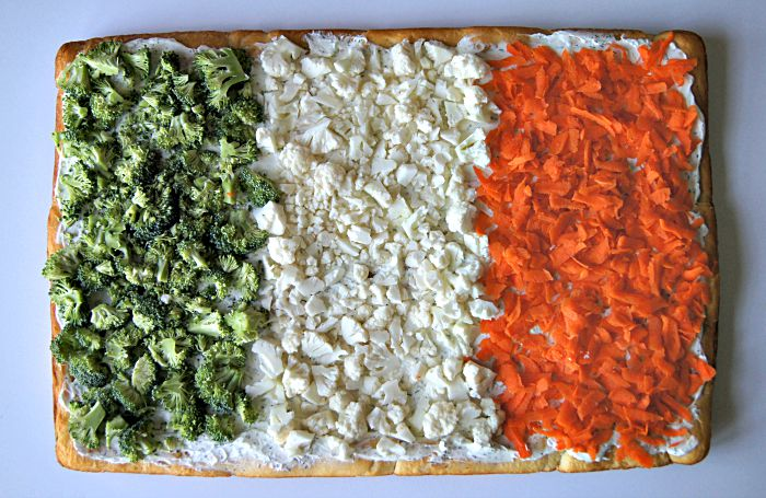 Irish Flag Vegetable Pizza
