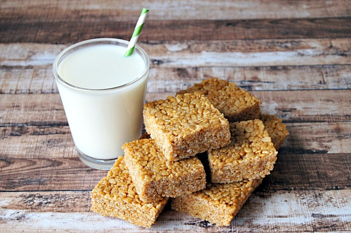 Peanut Butter Rice Cereal Bars