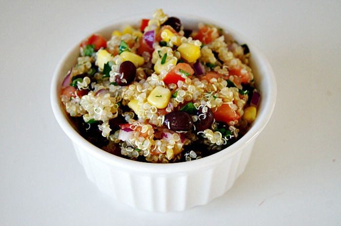 Black Bean & Corn Quinoa Salad