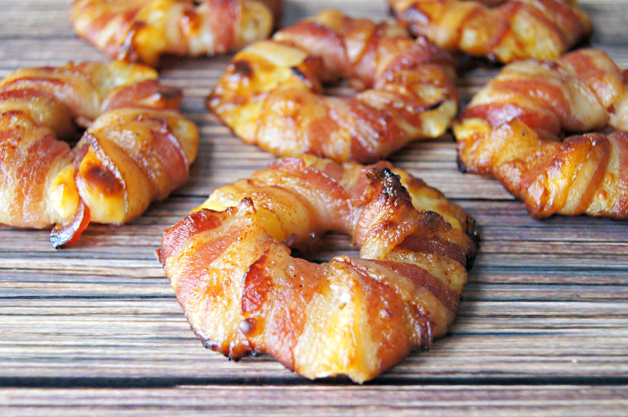 Cheesy Bacon-Wrapped Pineapple Rings