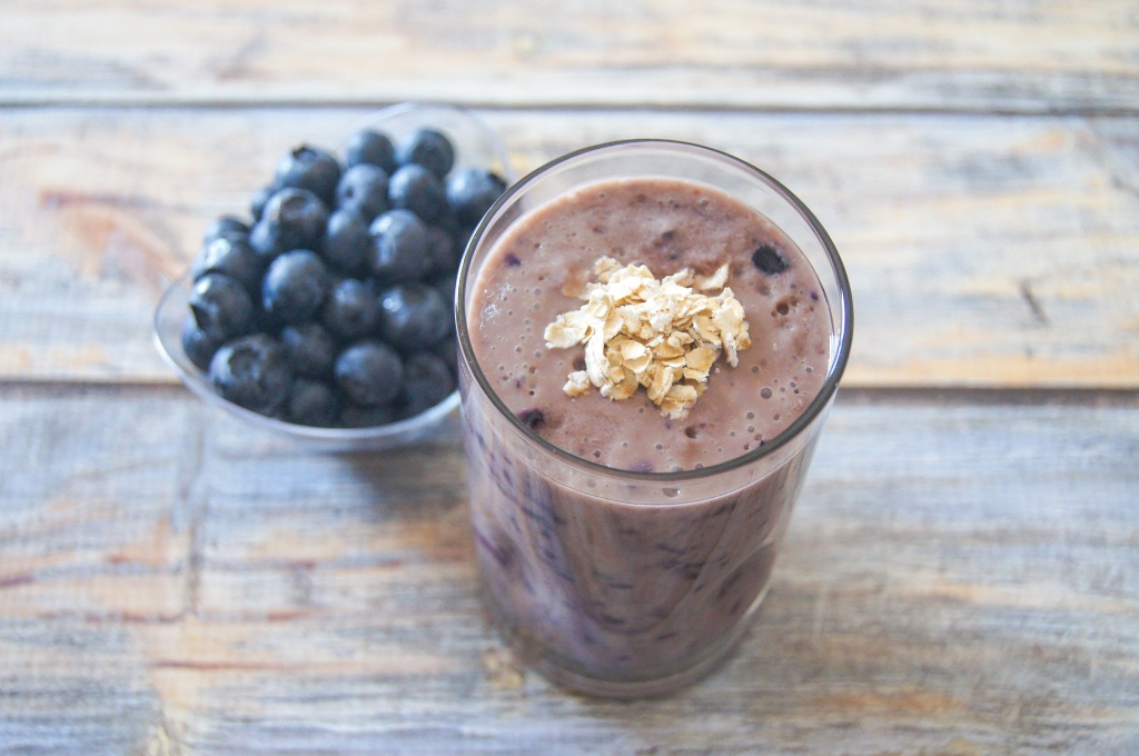 Blueberry Crisp Warm Smoothie