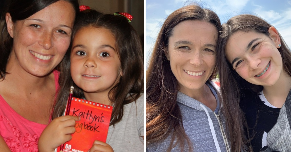Kim and Kaitlyn, then and now